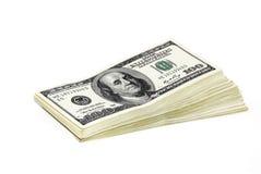 厚实捆绑的货币 库存照片