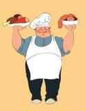 厚实的厨师 图库摄影