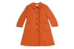 厚实的布料儿童的外套  免版税库存照片