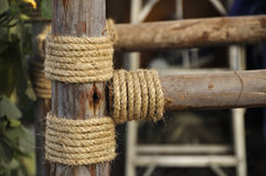 厚实的绳索背景 免版税库存图片