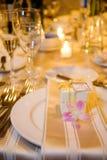 厚待设置表婚礼 免版税库存照片