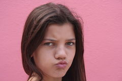 厚脸皮的女孩 图库摄影