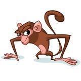 厚颜无耻的猴子字符 传染媒介吉祥人 库存照片