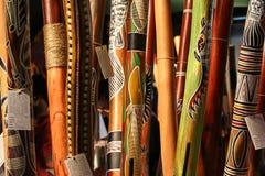 原史仪器, didgeridoo 免版税库存照片