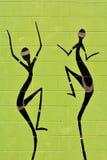 原史妇女danci土产澳大利亚艺术小点绘画  图库摄影