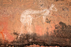 原史艺术澳洲岩石 图库摄影