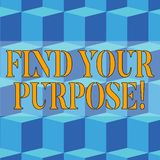 写笔记陈列发现您的目的 某事的企业照片陈列的原因完成或仍然存在 向量例证