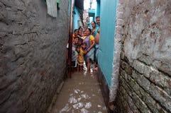 原因kolkata记录的雨水 免版税图库摄影