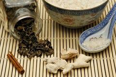 原始中国食物的材料 库存照片