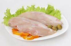 原始乳房的鸡 库存照片