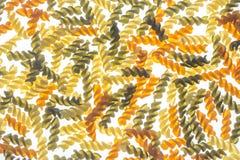 原始五颜六色的fusilli的意大利面食 库存图片