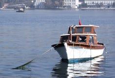 原始停住的小船的格式 免版税图库摄影
