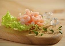 原始新鲜的大虾 免版税库存图片