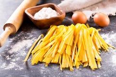 原始新鲜的意大利面食 库存照片