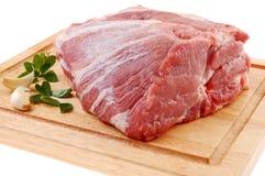 原始新鲜的猪肉 免版税图库摄影