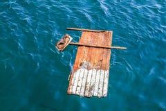 原始木筏 库存照片