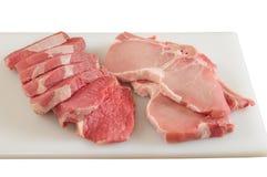 原始查出的肉 免版税库存照片