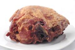 原始火腿的肉 免版税库存照片