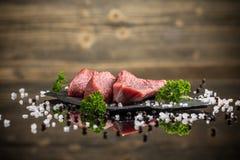 原始牛肉的肉 免版税库存图片