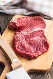 原始牛肉的鲜肉 免版税图库摄影