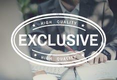 原始的优质有限的质量概念 免版税库存照片