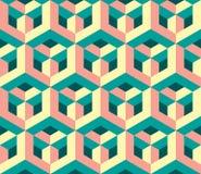 原始的几何不可思议的蜂窝样式 库存例证