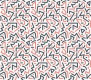 原始的几何现代流行音乐艺术样式 向量例证