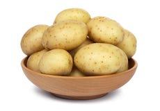 原始的削皮的土豆 免版税库存照片