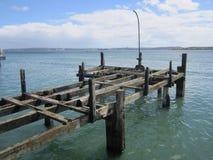 原始的力大无比的码头在科芙 爱尔兰 库存照片