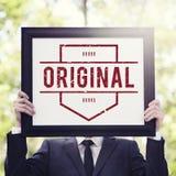 原始的品牌专利产品商标图表概念 免版税库存照片