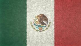 原始的墨西哥3D旗子图象 皇族释放例证