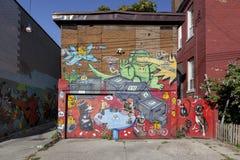 原始的壁画-多伦多街道  免版税库存图片