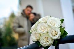 原始的婚礼花 免版税库存照片