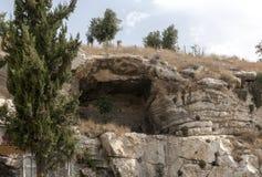 原始的山Golgotha 库存照片