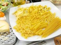 原始的意大利面食 免版税图库摄影