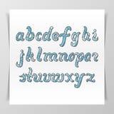 原始的手写的拉丁字母 免版税库存图片