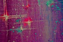 原始的抽象油画 夜,星 背景 纹理 免版税库存照片