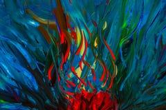 原始的抽象油画 背景 免版税库存照片