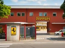 原始的法拉利工厂入口 免版税库存图片