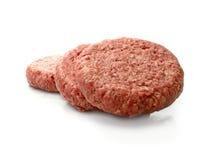 原始的牛肉汉堡 免版税图库摄影