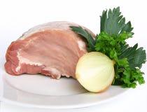 原始的猪肉 库存照片