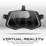 原始的立体镜3d VR耳机 正面图 库存图片