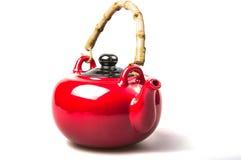 原始的红色水壶 免版税库存照片