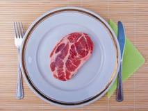 原始的肉 免版税库存图片