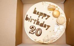 原始的蛋糕二十年 免版税库存照片