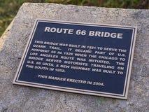 原始的路线66桥梁从1921年在俄克拉何马- JENKS -俄克拉何马- 2017年10月24日 免版税库存照片