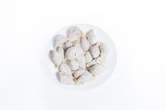 原始的饺子 免版税库存图片