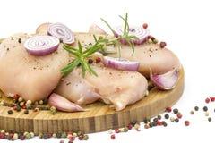 原始的鸡胸脯肉 库存图片