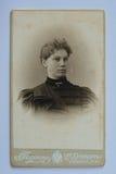 原始的19世纪90年代仿古一个少妇的照片 库存照片
