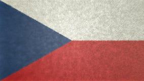 原始的3D图象,捷克的旗子 皇族释放例证